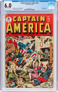 Captain America Comics #38 (Timely, 1944) CGC FN 6.0 Light tan to off-white pages