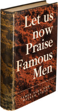 Books:Photography, James Agee and Walker Evans. Let Us Now Praise Famous Men. Three Tenant Families. Boston: Houghton Mifflin Compa...