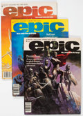 Magazines:Science-Fiction, Epic Illustrated #1-3 Group (Marvel, 1980) Condition: AverageFN/VF.... (Total: 3 Comic Books)
