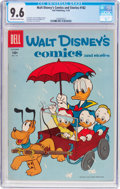 Golden Age (1938-1955):Cartoon Character, Walt Disney's Comics and Stories #182 (Dell, 1955) CGC NM+ 9.6Off-white to white pages....