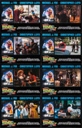 """Movie Posters:Science Fiction, Back to the Future Part II (Universal, 1989). International Lobby Card Set of 8 (11"""" X 14""""). Science Fiction.. ... (Total: 8 Posters)"""