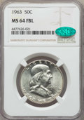 Franklin Half Dollars, 1963 50C MS64 Full Bell Lines NGC. CAC. NGC Census: (159/39). PCGS Population: (697/200). CDN: $300 Whsle. Bid for problem-...