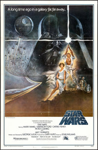 """Star Wars (20th Century Fox, 1977). First Printing One Sheet (27"""" X 41""""). Science Fiction"""