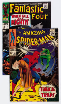 The Amazing Spider-Man #54/Fantastic Four #70 Group (Marvel, 1967-68).... (Total: 2 Comic Books)