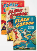 Golden Age (1938-1955):Science Fiction, Flash Gordon #1-3 Group (Harvey, 1950-51) Condition: AverageGD/VG.... (Total: 3 Comic Books)