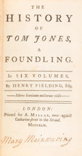 Books:Literature Pre-1900, Henry Fielding. The History of Tom Jones, a Foundling. London: A. Millar, 1749. Second edition, begun before the...