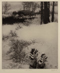 Prints:Contemporary, Peter Milton (b. 1930). Under Greylock, 1993. Intaglioetching on paper. 18 x 15 inches (45.7 x 38.1 cm) (image).24-3/4...