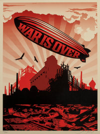 Shepard Fairey (b. 1970) War is Over, 2007 Screenprint in colors on speckled paper 24 x 18 inches