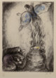 Marc Chagall (1887-1985) Sacrifice de Manoach (pl. 53), from The Bible series, 1956 Etching with handcoloring on A