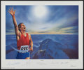 "Autographs:Others, 1994 ""Victory"" Signed Lithograph with Neil Armstrong, Muhammad Aliand Others.. ..."