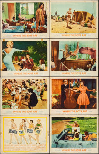 """Where the Boys Are & Other Lot (MGM, 1961). Lobby Card Set of 8 & Lobby Cards (3) (11"""" X 14"""")..."""