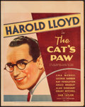 "Movie Posters:Comedy, The Cat's Paw (Fox, 1934). Trimmed Window Card (14"" X 18""). Comedy.. ..."
