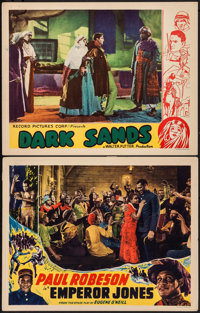 """The Emperor Jones & Other Lot (Screencraft, R-1930s). Lobby Cards (2) (11"""" X 14""""). Black Films. ... (T..."""