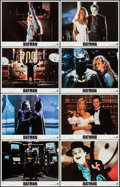 "Movie Posters:Action, Batman (Warner Brothers, 1989). International Lobby Card Set of 8 (11"" X 14""). Action.. ... (Total: 8 Items)"