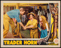 "Movie Posters:Adventure, Trader Horn & Other Lot (MGM, R-1938). Fine/Very Fine. LobbyCard (11"" X 14"") & Half Sheet (22"" X 28""). Adventure."