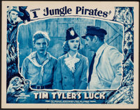 """Tim Tyler's Luck (Universal, 1937). Lobby Card (11"""" X 14"""") Chapter 1 -- """"Jungle Pirates."""" Serial..."""