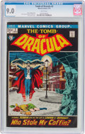 Bronze Age (1970-1979):Horror, Tomb of Dracula #2 (Marvel, 1972) CGC VF/NM 9.0 White pages....