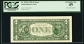Error Notes:Third Printing on Reverse, Third Printing on Back Error Fr. 1924-C $1 1999 Federal Reserve Note. PCGS Extremely Fine 45.. ...
