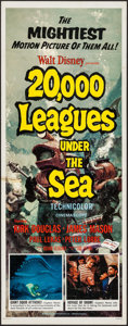 """Movie Posters:Science Fiction, 20,000 Leagues Under the Sea (Buena Vista, R-1963). Insert (14"""" X 36""""). Science Fiction.. ..."""