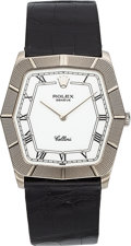 Timepieces:Wristwatch, Rolex Cellini Ref. 4170 White Gold Wristwatch. ...