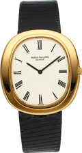 Timepieces:Wristwatch, Patek Philippe Ref. 3589 Jumbo Ellipse Automatic, circa 19...