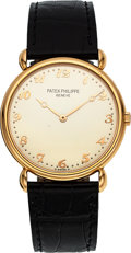 Timepieces:Wristwatch, Patek Philippe, Ref. 3820R, 18k Gold Wristwatch, circa 1990's. ...