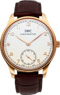 Timepieces:Wristwatch, IWC Fine Limited Edition 18k Rose Gold Portuguese No. 1 Out Of 1000 Produced IW545409. ...