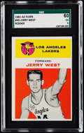 Basketball Cards:Singles (Pre-1970), 1961 Fleer Jerry West #43 SGC 60 EX 5....