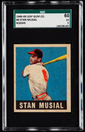 Baseball Cards:Singles (1940-1949), 1948 Leaf Stan Musial #4 SGC 60 EX 5. Offered is a...