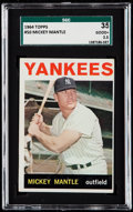 Baseball Cards:Singles (1960-1969), 1964 Topps Mickey Mantle #50 SGC 35 Good+ 2.5....