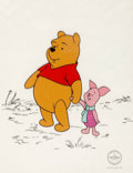 "Animation Art:Seriograph, ""Best Friends"" Winnie the Pooh Limited Edition Sericel (WaltDisney, c. 1990s)...."