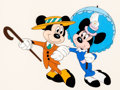 "Animation Art:Seriograph, ""Nifty Nineties"" Mickey Mouse and Minnie Mouse Limited EditionSericel (Walt Disney, 1992)...."