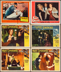 """Night Creatures & Others Lot (Universal International, 1962). Lobby Cards (6) (11"""" X 14""""). Horror..."""