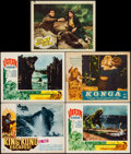 "Movie Posters:Science Fiction, King Kong Escapes & Others Lot (Toho, 1967/1970). Lobby Cards (5) (11"" X 14"") & German Lobby Card (9.25"" X 11.75""). Science ... (Total: 6 Items)"