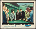 """Movie Posters:Crime, Ocean's 11 (Warner Brothers, 1960). Autographed Lobby Card (11"""" X14""""). Crime.. ... (Total: 2 Items)"""