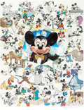 """Animation Art:Poster, """"Mickey at Sixty"""" Limited Edition Lithograph #1996/2500 (WaltDisney, 1988)...."""