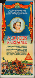 "Movie Posters:Documentary, A Queen is Crowned (Rank, 1953). Australian Daybill (13.5"" X 30""). Documentary.. ..."