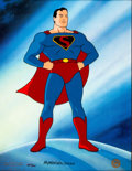 "Animation Art:Limited Edition Cel, ""Superman"" Limited Edition Cel #321/500 Signed by Myron Waldman(Warner Brothers/Fleischer Studios, 1995)...."