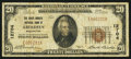 National Bank Notes:Washington, Aberdeen, WA - $20 1929 Ty. 1 The Grays Harbor NB Ch. # 12704. ...