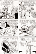 Original Comic Art:Panel Pages, Jack Kirby and Dick Ayers Fantastic Four #14 Story Page 9 Sub-Mariner Original Art (Marvel, 1963)....