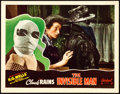 "Movie Posters:Horror, The Invisible Man (Realart, R-1951). Lobby Card (11"" X 14"").. ..."