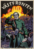 "Movie Posters:War, Westfront 1918 (Biografernas, 1930). Swedish One Sheet (27.5"" X39.5"").. ..."