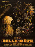 "Movie Posters:Fantasy, La Belle et la Bete (DisCina, R-1951). French Grande (46"" X 61.5""). Jean-Denis Malcles Artwork.. ..."