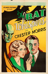 "The Bat Whispers (Atlantic, R-1930s). One Sheet (27"" X 41"")"