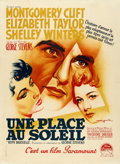 """Movie Posters:Drama, A Place in the Sun (Paramount, 1951). French Grande (47"""" X 63"""")Roger Soubie Artwork.. ..."""