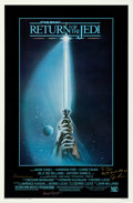 "Movie Posters:Science Fiction, Return of the Jedi (20th Century Fox, 1983). Autographed One Sheet(27"" X 41"") Style A, Tim Reamer Artwork.. ..."
