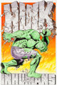 Jim Steranko Incredible Hulk Special (Annual) #1 Cover Recreation Original Art (undated)