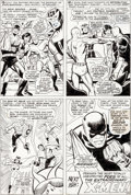 Original Comic Art:Panel Pages, John Buscema and Vince Colletta Avengers #52 Story Page 20Original Art (Marvel, 1968)....