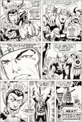 Original Comic Art:Panel Pages, Jack Kirby and Bill Everett Thor #175 Story Page 20 OriginalArt (Marvel, 1970)....