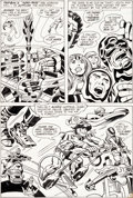 Original Comic Art:Panel Pages, Jack Kirby and Vince Colletta New Gods #5 Story Page 2Fastbak Original Art (DC, 1971).